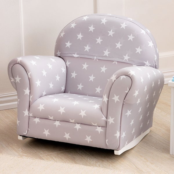 KidKraft Upholstered Rocker (Grey With White Stars)