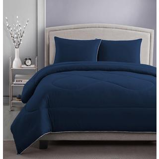 RBX 3-piece Microfiber Solid Color Comforter and Sham Set