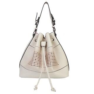 Rimen & Co. PU Leather Drawstring Mesh Handbag