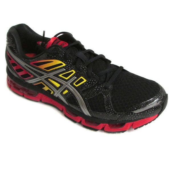 Asics Men's Gel-Cirrus33 Black/Lightning/Fire Running Shoes