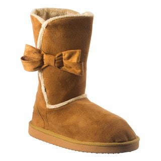 Women's Microfiber Boots with Bow