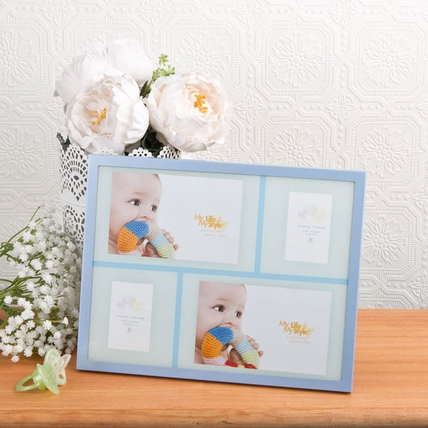 Blue Baby Collage Picture Frame