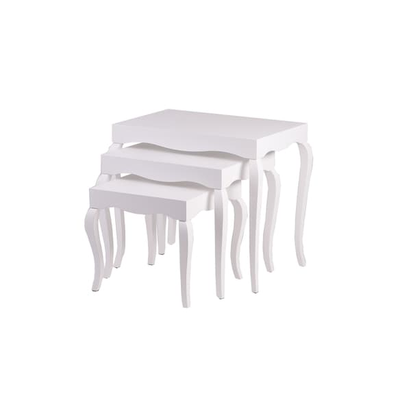 New Modern Contemporary Victor Nested tables (3 tables) #7340 in White