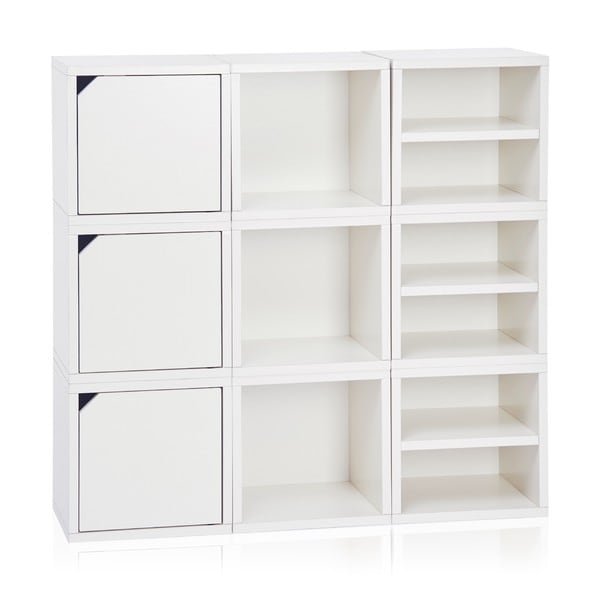 Way Basics White 9-cube Storage