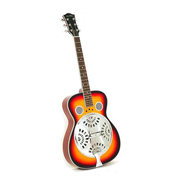 Pyle PGA48BR 6-String Acoustic Electric Resonator Guitar, Full Scale Resophonic, Accessory Kit Included