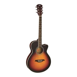 Pyle PGA36 6-String Acoustic Electric Full Scale Two-tone Guitar (Accessory Kit Included)