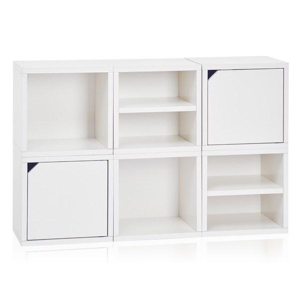 Way Basics White 6-cube Storage