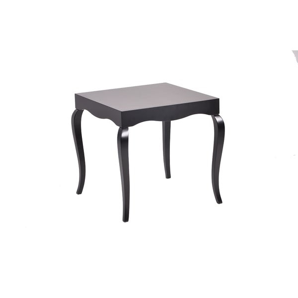 New Modern Contemporary Glossy Lacquer Victor Side Table in Black #7691