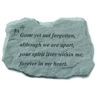 Kay Berry 'Gone Yet Not Forgotten' Garden Accent Stone