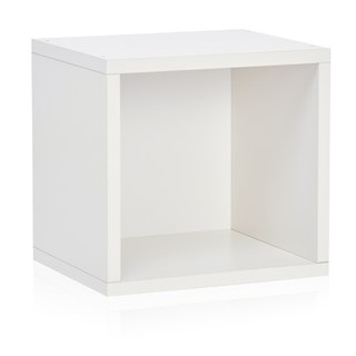Way Basics White Open Cube