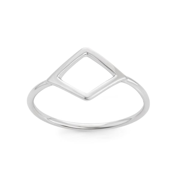 La Preciosa Sterling Silver Small Open Shape Ring