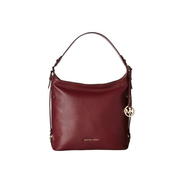 MICHAEL Michael Kors Luggage Bedford Belted Large Shoulder Bag Merlot