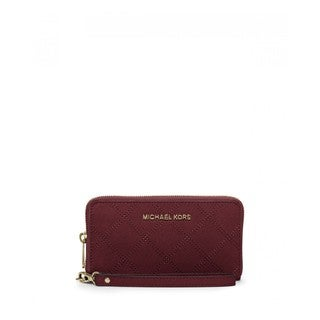 Michael Michael Kors Quilted Leather Merlot Multi-Function Wristlet