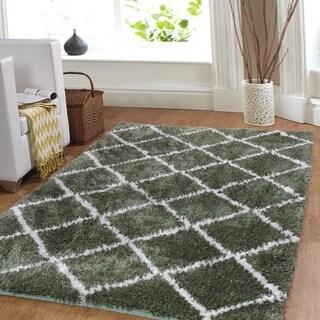 Affinity Home Trellis Cozy Shag Rug (6' x 9')