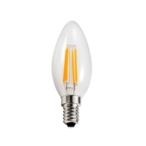 Goodlite 3.5-Watt LED Filament Candelabra Bulb Dimmable Torpedo Tip - Equivalent 40W Incandescent Bulb UL 400 Lumens - 10 Pack