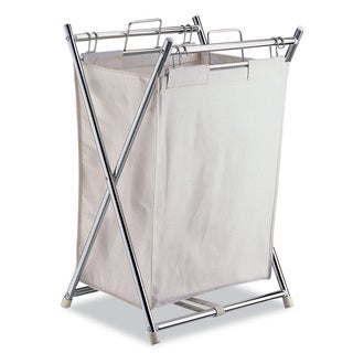 Organize It All Folding Hamper with Canvas Pull-out Bag