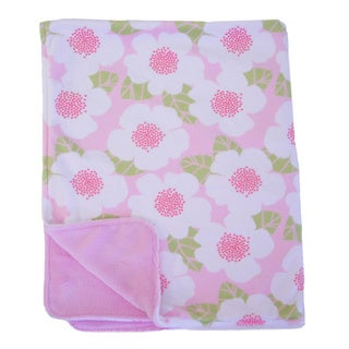 Nurture Imagination Garden District Plush 2 Ply Minky Blanket Floral