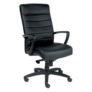 Manchester High-Back Black Leather Conference Chair