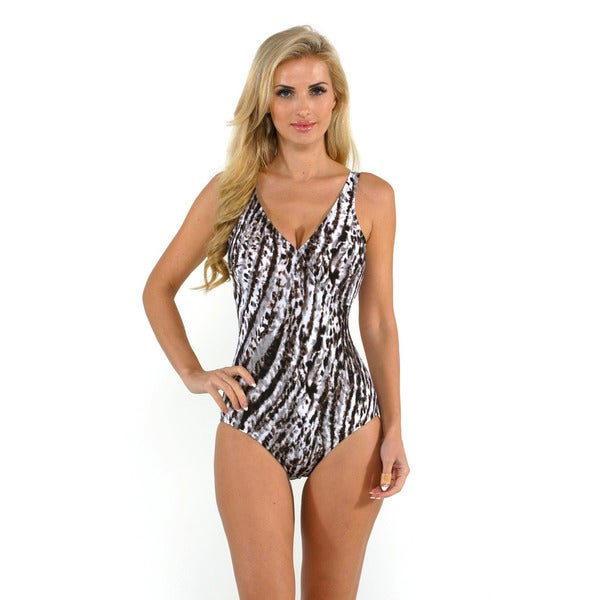 Magic Suit by Miracle Suit Snow Leopard Macarena One-piece Swimsuit