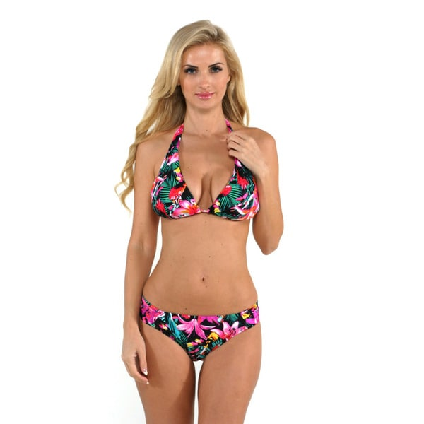 Kenneth Cole Reaction Women's Tropicali Halter Top with Hipster Bottom 16700683