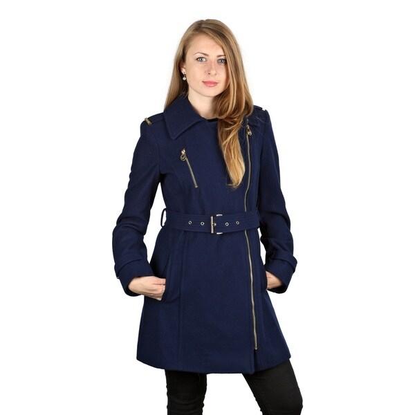 Michael Michael Kors Sapphire Blue Wool Belted Coat