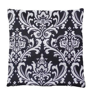 Black & White Damask Pillow Cover 18 x 18