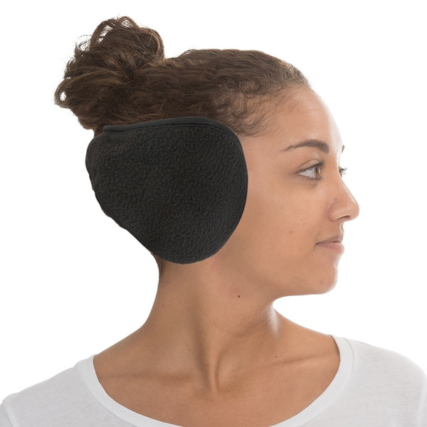 Unisex Black Adjustable Earmuffs