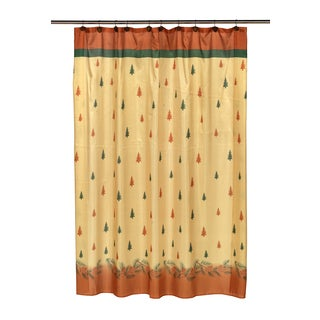 """14-piece Christmas """"Winters Break"""" Holiday Themed Shower Curtain Ensemble"""