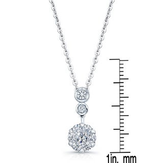 14k White Gold 1/3ct TDW Diamond Pendant Necklace (H-I, SI1-SI2)