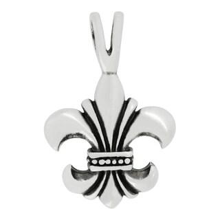 Sterling Silver Fleur-De-Lis Design Charm Pendant