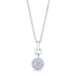 14k White Gold 1/4ct TDW Diamond Rolo Chain Necklace (H-I, SI1-SI2)