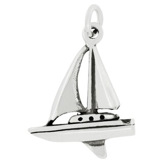Sterling Silver Ocean Sailboat Charm Pendant