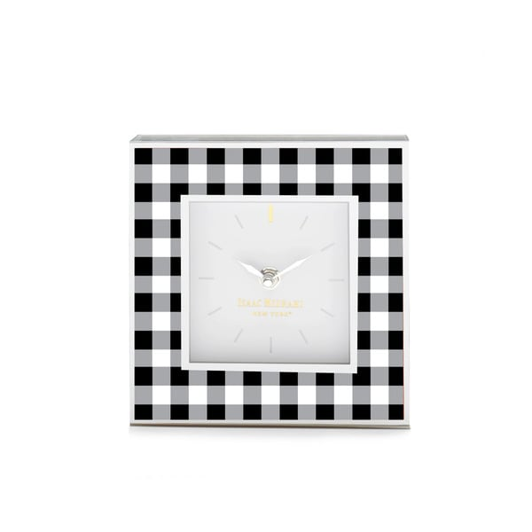 Isaac Mizrahi Gingham Small Clock