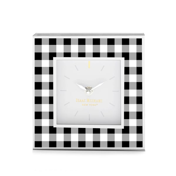 Isaac Mizrahi Gingham Large Clock