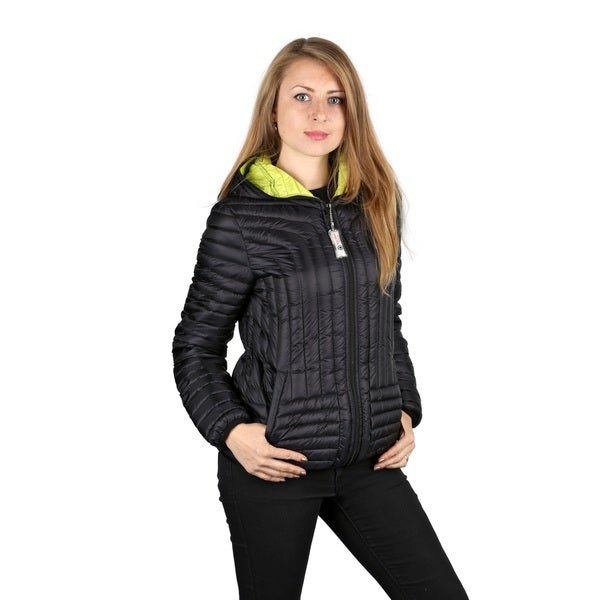 Halifax Woman's Black Down Hooded Packable Coat