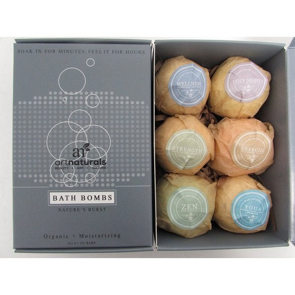 Art Naturals Bath Bombs 6-piece Gift Set