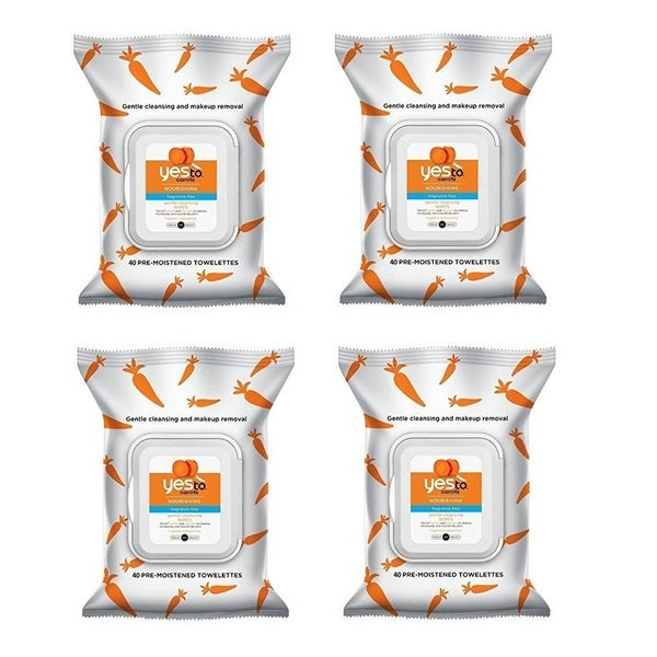 Yes To Carrots Nourishing Fragrance Free Gentle Cleansing Wipes (40 Count)