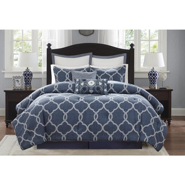 Harbor House Freya Cotton Blue Comforter Set