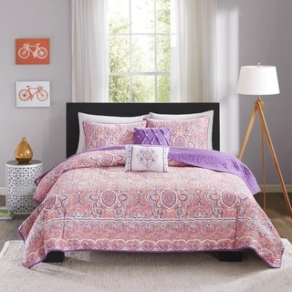 Intelligent Design Ruby Pink Coverlet Set