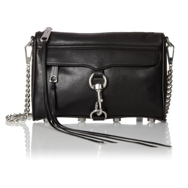 Rebecca Minkoff Mini Mac Crossbody - Black/Silver Hardware