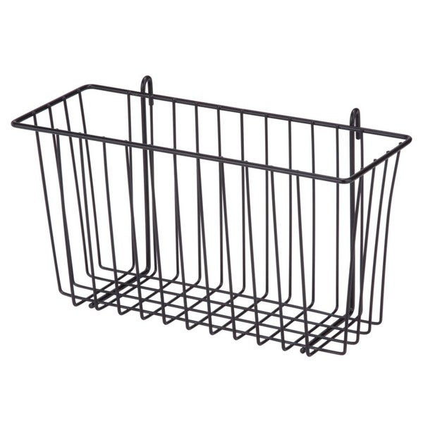 black wire accessory basket