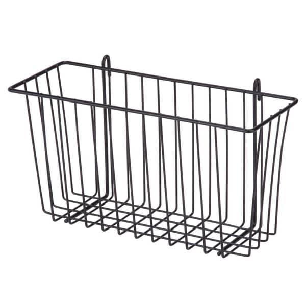 black wire accessory basket