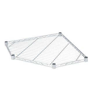 Corner Shelf 5-side 350lb Chrome