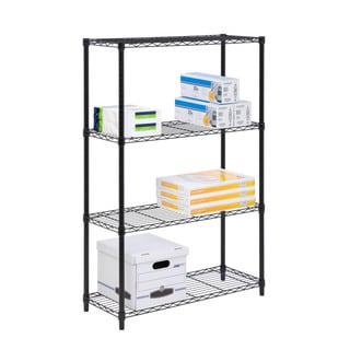 4-tier shelving unit, 350lb black