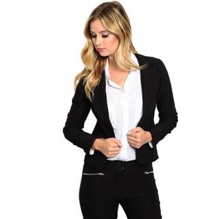 Shop the Trends Women's Long Sleeve Blazer Jacket