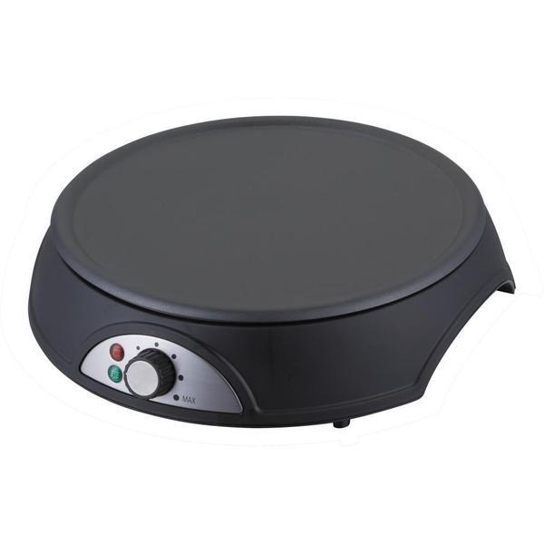 NutriChef PCRM12 Black Electric Crepe Maker / Griddle, Hot Plate Cooktop