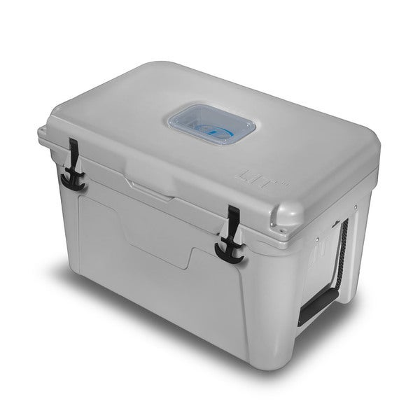 LIT 52 Quart Cooler in Grey with a Blue LED Liner