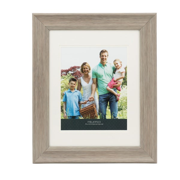 Melannco Double Matted 8 x 10 Grey Frame
