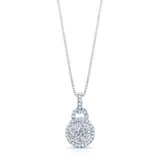 14k White Gold 2/5ct TDW Diamond Pendant (H-I, SI1-SI2)