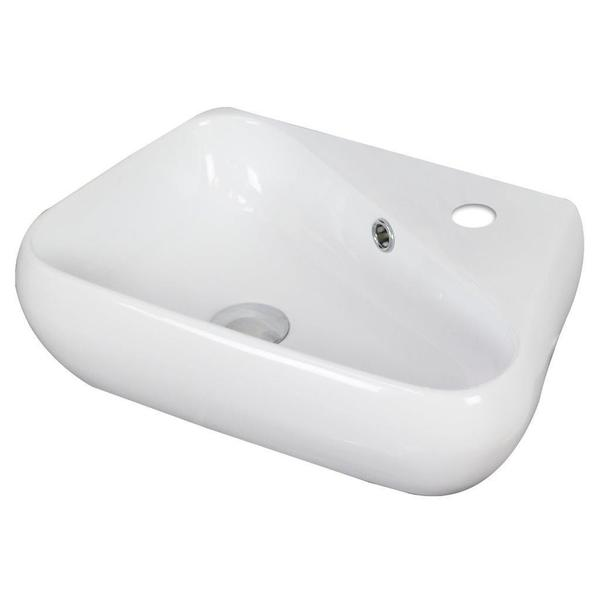 19-in. W x 11-in. D Above Counter Unique Vessel In White Color For Single Hole Faucet